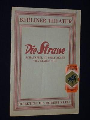 Programm DIE STRASSE von Elmer Rice. Berliner Theater, Heft 3, 1929/30. Regie: Heinz Hilpert, ...