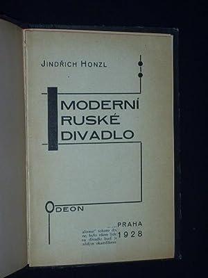 Moderni ruske divadlo.: Jindrich Honzl; Karel Teige (Einbandgestaltung)