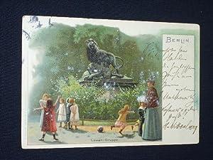 Postkarte Adalbert Matkowsky an Maximilian Harden, Berlin 1901: Adalbert Matkowsky; Maximilian ...