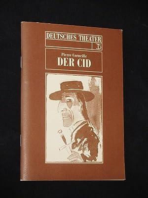 Programmheft DER CID von Pierre Corneille. Deutsches: Deutsches Theater Berlin