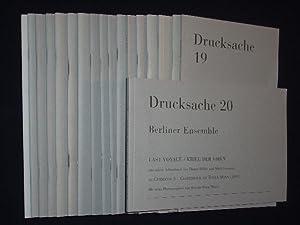 Drucksache 1 - 11 und 13/14 - 20: Herausgegeben von der Berliner Ensemble GmbH. Redaktion: ...