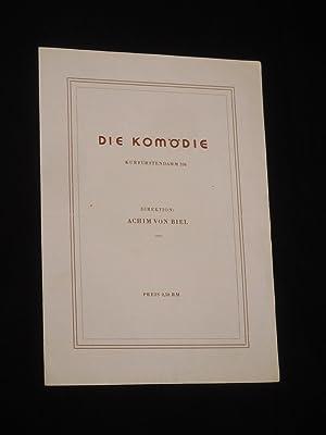 Programmzettel Die Komödie, Kurfürstendamm 1946. BUNBURY von: Komödie am Kurfürstendamm