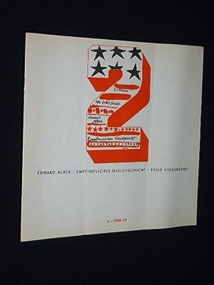 Programmheft 2 Freie Volksbühne Berlin 1968. EMPFINDLICHES: Herausgeber: Freie Volksbühne,
