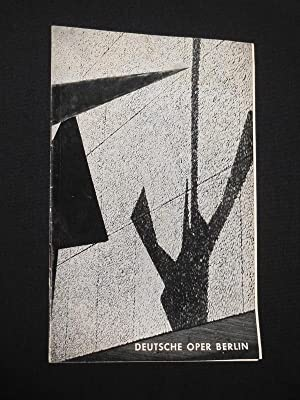 Deutsche Oper Berlin, Januar 1968. Programmheft DON: Deutsche Oper Berlin