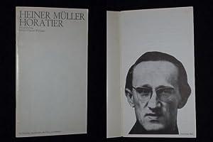 Programmheft 14 Schiller-Theater Werkstatt 1973. Uraufführung HORATIER von Heiner Müller....