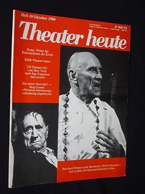 Theater heute, Heft 10/ 1980. Mit Stückabdruck: Theater heute, Red.: