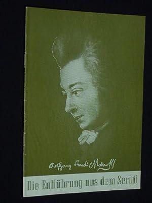 Programmheft 2 Stadttheater Freiberg 1955. DIE ENTFÜHRUNG: Herausgeber: Stadttheater Freiberg,
