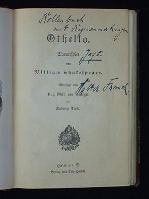 Rollenbuch Walter Franck als Jago, mit zahlreichen handschriftlichen Regieanmerkungen, Lobe-Theater...