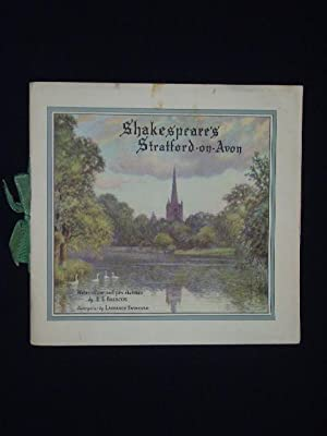 Shakespeare's Stratford-on-Avon. Water colour and pen sketches: E. E. Briscoe,