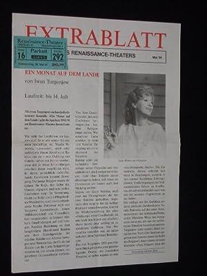 Extrablatt des Renaissance-Theaters, Nr. 21, Mai 1991.: Herausgeber: Renaissance-Theater, Intendant:
