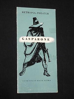 Programmheft Metropol-Theater Berlin 1954. GASPARONE von Zell/Genee,: Herausgegeben von der