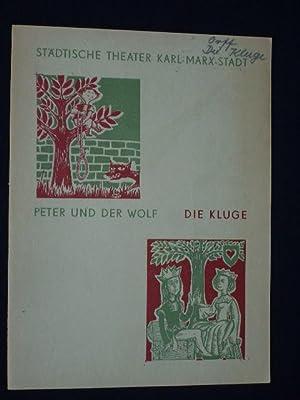 Programmheft Städtische Theater Karl-Marx-Stadt 1963. PETER UND: Herausgegeben von der