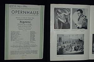 Programmzettel Sächsische Staatstheater Dresden, Opernhaus 19.5.1943. RIGOLETTO: Staatstheater Dresden, Intendant: