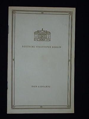 Programmheft Deutsche Staatsoper Berlin 1960. DON GIOVANNI: Herausgeber: Deutsche Staatsoper