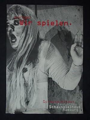 Original-Plakat Deutsches Schauspielhaus in Hamburg. Achtung! Wir spielen.: Deutsches ...