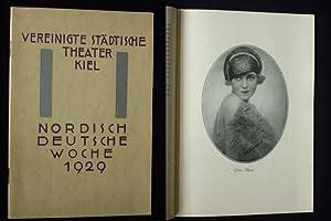 Programmheft Vereinigte Städtische Theater Kiel, Nordisch-Deutsche Woche 1929. DIE ZAUBERFL&...