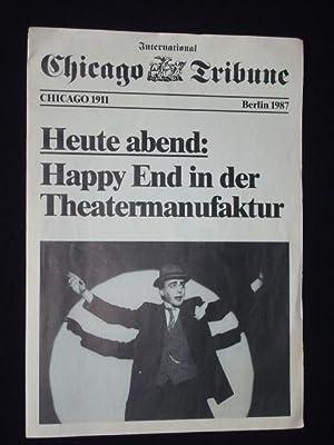 Programmheft Theatermanufaktur Berlin 1987. HAPPY END von: Theatermanufaktur, Leitung: Otto