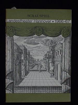 Programmheft 7 Landestheater Hannover, Ballhof 1967. TARTUFFE: Herausgeber: Intendant Prof.