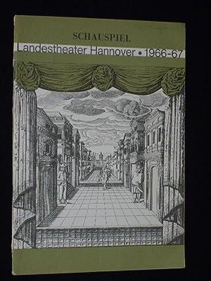 Programmheft Landestheater Hannover, Ballhof 1966. AMPHITRYON von: Herausgeber: Intendant Prof.