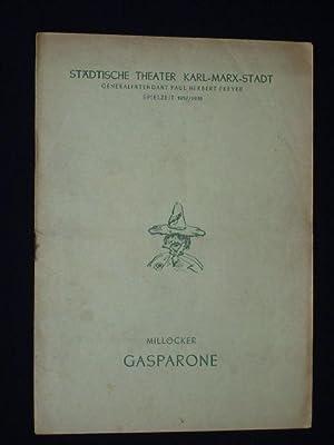 Programmheft Städtische Theater Karl-Marx-Stadt 1958. GASPARONE von: Herausgegeben von der