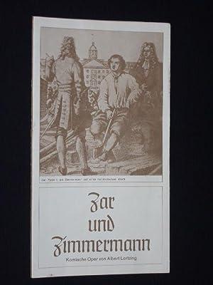 Programmheft 17 Staatstheater Braunschweig 1975. ZAR UND: Staatstheater Braunschweig, Generalintendant: