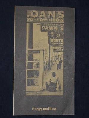 Programmheft 12 Staatstheater Braunschweig 1976. PORGY UND: Herausgeber: Staatstheater Braunschweig,