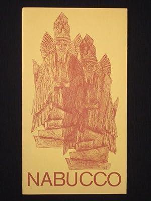 Programmheft 21 Staatstheater Braunschweig 1975. NABUCCO von: Herausgeber: Staatstheater Braunschweig,