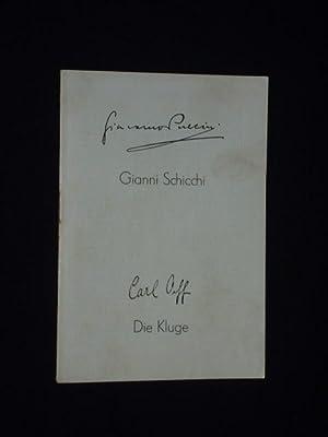 Programmheft Stadttheater Plauen 1953. GIANNI SCHICCHI von: Herausgegeben von der