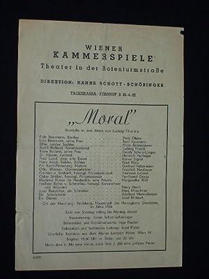 Programmzettel Wiener Kammerspiele, Theater in der Rotenturmstraße,: Wiener Kammerspiele, Theater