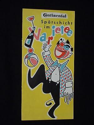 Programmheft Stadthalle Hannover, um 1950. SPÄTSCHICHT IM: Stadthalle Hannover