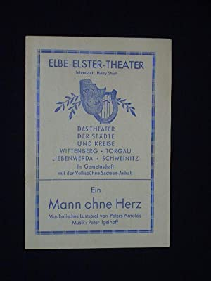 Programmzettel Elbe-Elster-Theater Wittenberg um 1949. EIN MANN: Elbe-Elster-Theater Wittenberg, Intendant: