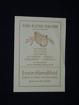 Programmzettel Elbe-Elster-Theater Wittenberg um 1949. EVA IM: Elbe-Elster-Theater Wittenberg, Intendant: