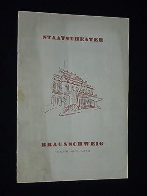 Programmheft 17 Staatstheater Braunschweig 1954/55. DIE FLEDERMAUS: Herausgegeben von der