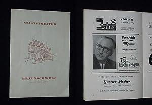 Programmheft 21 Staatstheater Braunschweig 1954/55. SAISON IN: Herausgegeben von der