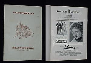 Programmheft 2 Staatstheater Braunschweig 1954/55. HOFFMANNS ERZÄHLUNGEN: Herausgegeben von der