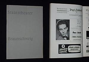 Programmheft [ohne Nummer] Staatstheater Braunschweig 1958/59. MASKE IN BLAU von Heinz ...