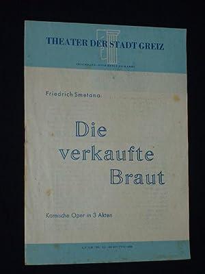 Programmheft Theater der Stadt Greiz 1951. DIE: Theater der Stadt