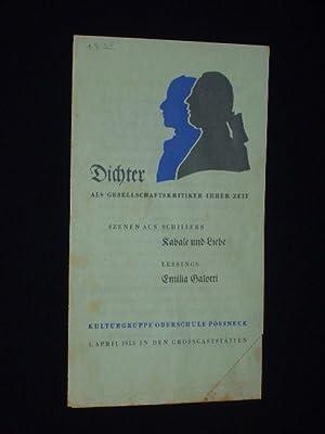Programmzettel Kulturgruppe Oberschule Pössneck 1.4.1953 in den: Kulturgruppe Oberschule Pössneck,