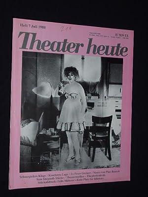 Theater heute. Die deutsche Theaterzeitschrift. Heft 7,: Herausgegeben von Erhard