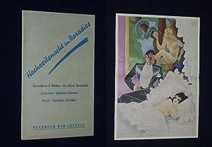 Programmzettel Metropol-Theater Berlin um 1940. HOCHZEITSNACHT IM: Metropol-Theater Berlin, Direktion: