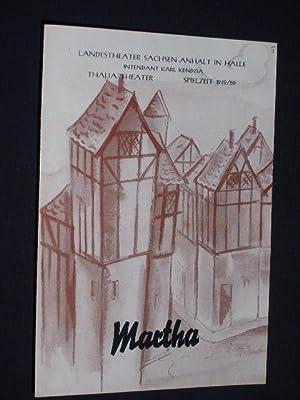Programmheft Landestheater Sachsen-Anhalt in Halle, Thalia-Theater 1950.: Herausgegeben von der