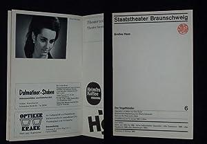Programmheft 6 Staatstheater Braunschweig 1969. DER VOGELHÄNDLER: Herausgeber: Generalintendant Hans
