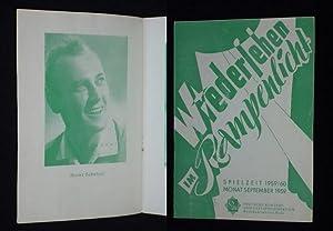 Programmheft Steintor-Variete Halle (Saale) September 1959. WIEDERSEHEN: Steintor-Variete Halle (Saale),