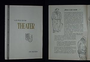 Programmheft 2 Städtische Theater Leipzig Kammerspiele 1957.: Herausgegeben von der