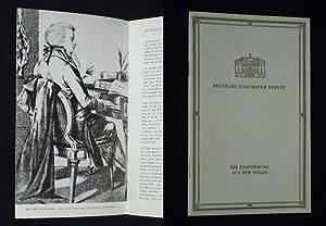Programmheft Deutsche Staatsoper Berlin 1957. DIE ENTFÜHRUNG: Herausgeber: Deutsche Staatsoper