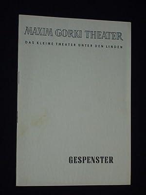 Programmheft 19 Maxim Gorki Theater 1956. GESPENSTER: Maxim Gorki Theater,