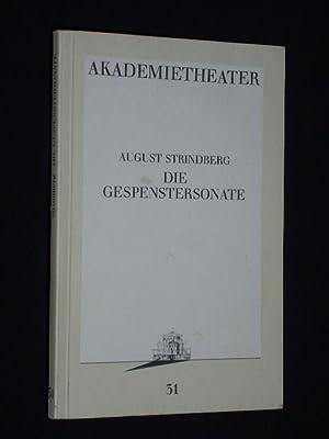 Programmbuch 31 Akademietheater Wien 1987/88. DIE GESPENSTERSONATE: Herausgeber: Burgtheater Wien,