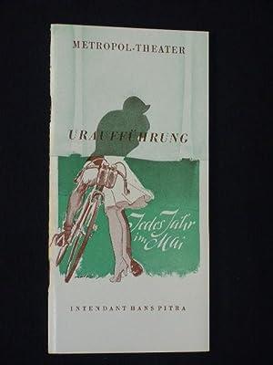 Programmheft Metropol-Theater Berlin 1954. JEDES JAHR IM: Herausgegeben von der