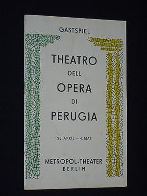 Programmheft Gastspiel Teatro dell Opera di Perugia: Herausgeber: Berliner Theater-