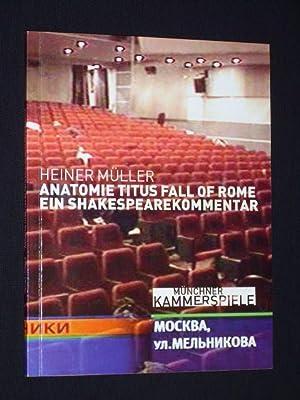 f85eca80f2d917 Programmheft Münchner Kammerspiele 2003 04. ANATOMIE TITUS FALL OF ROME EIN  SHAKESPEARE-KOMMENTAR
